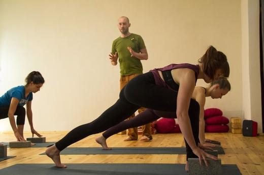 Darstellung des Unterrichts Yoga Leipzig