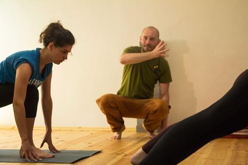 Yogaübung in unserem Yoga-Studio in Leipzig